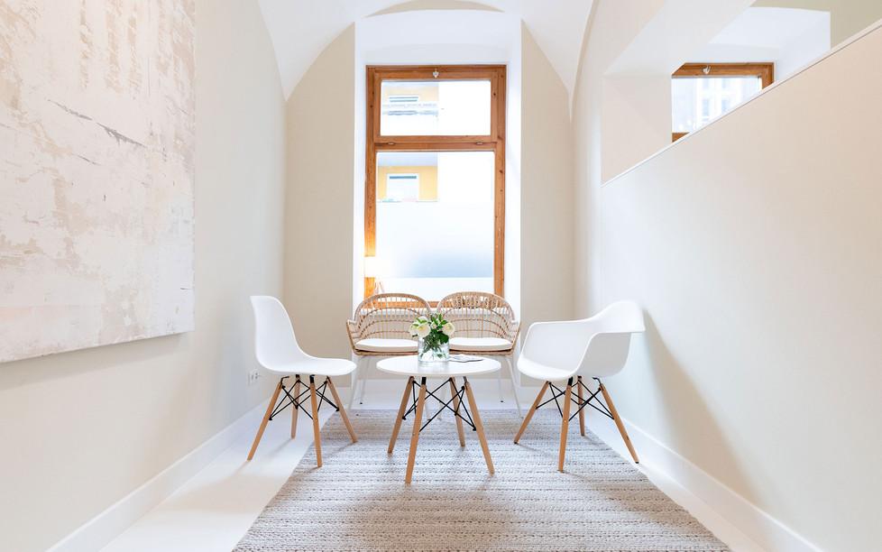 Hautarztpraxis Almuth Bene / Interior Design Wartebereich