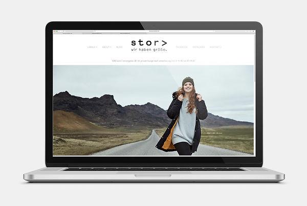 stor Mode für Große Größen Webseite Design