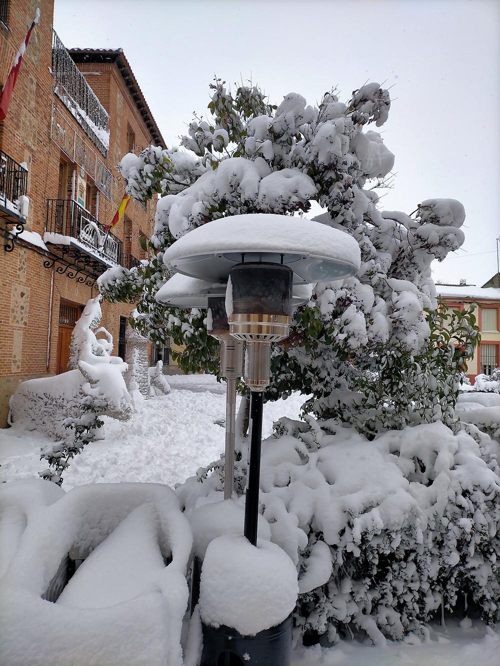 Estufas de gas enterradas en nieve