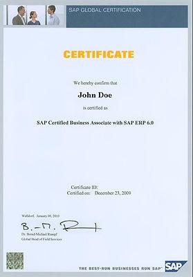 Mednarodni certifikat SAP TERP 10