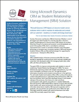 Študija primera o uvajanju MS Dynamics CRM na EPF