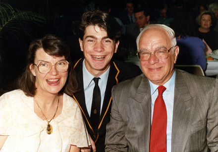 High School Graduation with Mum and Dad. c.1991