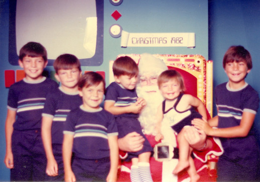 Christmas (far right) c.1982