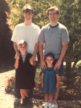 My Eldest Brother and Nieces. c.1990