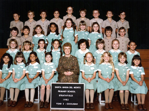 Third Grade (back row, second from the right) c.1982