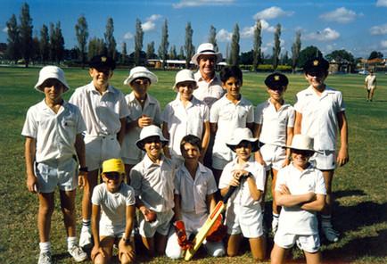 Cricket (front row center) c.1980s