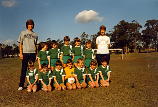 Soccer (front third from left) c.1980s