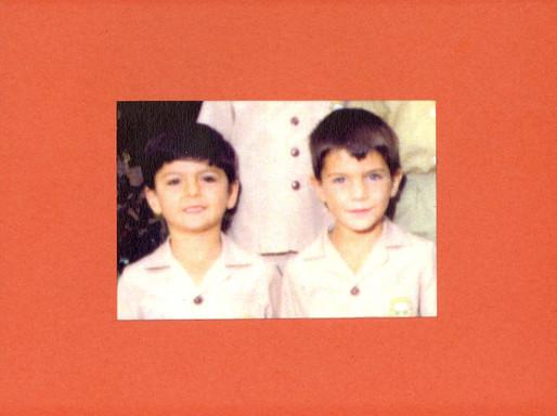 Best Friends Since Grade School. Zed founder of Vegan Lebanese. c.1978