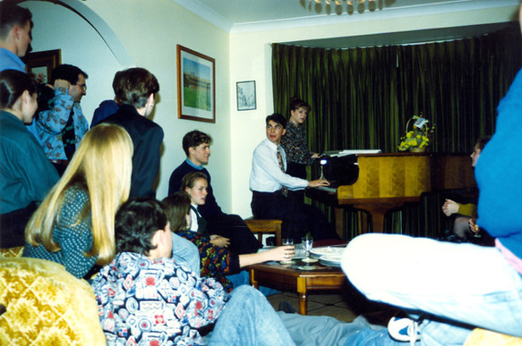 Playing Piano at My Birthday Party. c.1990