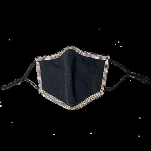 Rhinestone-Wrapped Mask