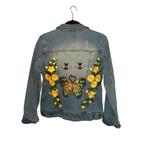 Yellow Rose Butterfly Jacket