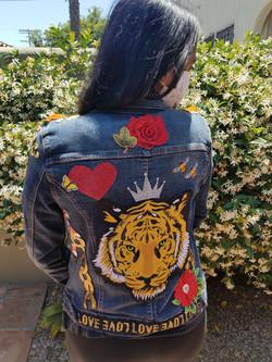 Roaring Rose Jean Jacket