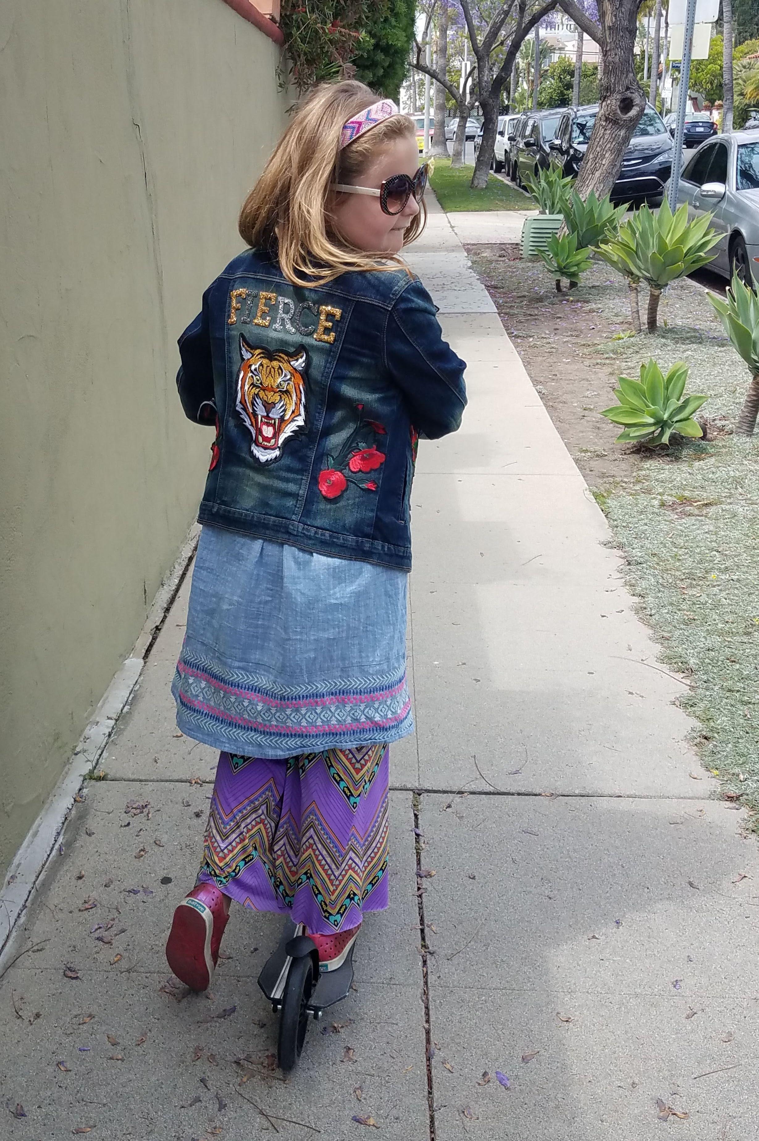 One Fierce Child Denim Jacket