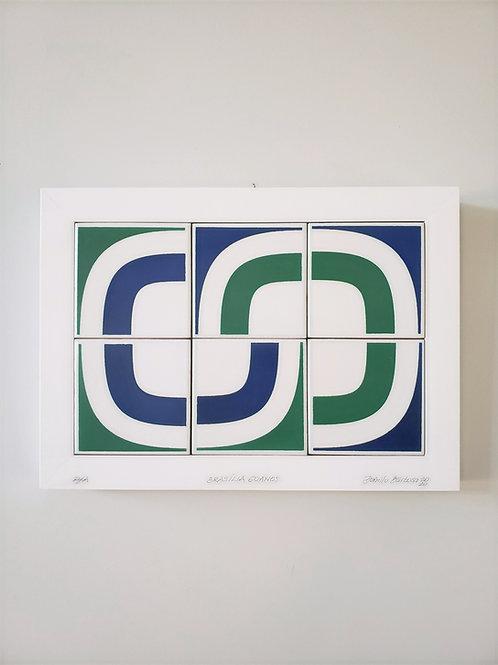 Azulejo comemorativo - 60 anos de Brasília