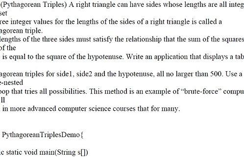 Ex 5.21 (Pythagorean Triples) Solution