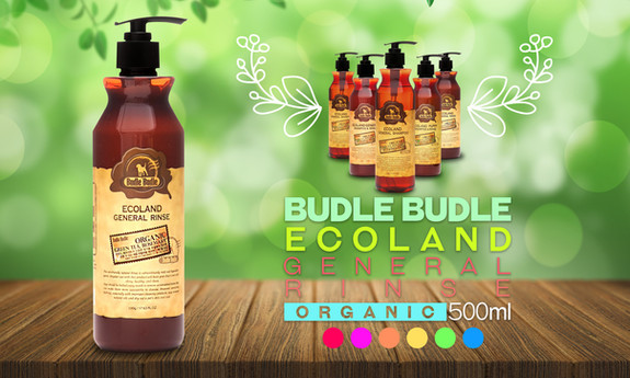 This unique blend of natural ingredients found in the Budle Budle Ecoland General Rinse (Conditioner) coats and releases the undercoat during the bath to help protect against excessive shedding.  It moisturizes your pet's hair with the very mildest ingredients to cleanse and their formula begins with Organic Green Tea Tree Leaf Extract and Organic Rosemary Leaf Extract to nourish and moisturize skin and coat. Aloe Vera is added to naturally soothe skin irritations, while Macadamia Nut Oil restores moisture balance and add shine. Our natural conditioner for pets is 100% detergent free and does not contain any harmful chemicals, parabens or SLS, making it a perfect gentle conditioner for animals with allergies and other sensitivities.  Our moisturizing fur conditioner offers safe professional quality for dogs, cats, puppies, kittens, ferrets, guinea pigs, rabbits and horses with normal or sensitive skin of all ages. Our conditioning cream rinse is suited for all types of fur, leaving coats silky and smooth and alleviates itching and dryness.  Budle Budle Ecoland General Rinse (Conditioner) is a specialized Conditioner for Dogs and Puppies. It can also be used to Cats, Kittens and all pets. Our conditioner is formulated with Tea Tree Leaf, Rosemary Leaf, Macadamia Nut Oil, and Aloe Vera.  This super mild conditioner is pH balanced especially for all dogs and puppies. Our conditioner moisturizes dog's coat and soothes their skin. Great choice for dry hair.  No more tears for puppies or dogs or other pets. It controls their coat clean, shiny and healthy and good for the skin.  Leaves a light, clean and natural fragrance and is gentle enough for frequent use.  It contains Non Toxic, Extra Mild Natural Ingredients. Specially formulated to gently cleanse, moisturize and soothe pet's fur and dry, flaky sensitive skin. Proudly made in South Korea. Our solution is 100% non toxic and SLS free. Our formula is safe to use head to tail.