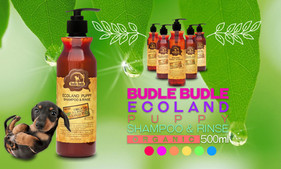 Budle Budle Ecoland Puppy Shampoo & Rinse (Conditioner) cleans, soothes, softens, and conditions your puppy's skin and coat. It moisturizes your puppy's hair with the very mildest ingredients to cleanse and their formula begins with organic green tea tree leaf extract, organic rosemary extract, grapefruit extract, and grape seed oil to nourish and moisturize skin and coat. Our natural shampoo & conditioner for puppies is 100% detergent free and does not contain any harmful chemicals, parabens or SLS, making it a perfect gentle conditioner for animals with allergies and other sensitivities. Our moisturizing puppy Shampoo & Conditioner offers safe professional quality for young pets.