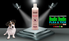 Bundle Budle Flea & Tick Shampoo is the ultimate outdoor Flea and Tick Solution for your pets, repelling insects from dogs, cats, and other pets.  It contains an insecticide that kills fleas on your dog and prevents their return for up to 7 days. Mallow, Nettle Leaf Extract, and Chrysanthemum Flower Extract enriched shampoo that helps wash out fleas and ticks from your dog's coat. Easy rinse technology keeps washing time to a minimum and reduces the chance of irritation. Smells great and repel insects for dogs and cats of all ages. It's the perfect first step in a total natural flea & tick control routine, combining essential natural ingredients for long-lasting effects. Antibacterial and antifungal.  Our dog wash is a medicinal shampoo which contains oriental plants and herbs such as Asarum Sieboldi Root Extract, Chamomilla Recutita (Matricaria) Leaf Extract, Cnidium Officinale Root Extract, Eclipta Prostrata Extract, Juglans Regia (Walnut) Seed Extract, Juglans Regia (Walnut) Seed Extract, Morus Alba Root Extract and more.  This unique blend of natural ingredients found in the Budle Budle Flea & Tick Dog Shampoo coats and releases the undercoat during the shampoo. It doesn't contain any harsh ingredients.  It also moisturizes your pet's hair with the very mildest ingredients to cleanse and their formula begins with Aloe Vera to nourish and moisturize skin and coat. Nettle Leaf is added to naturally soothe skin irritations.  THE MOST EFFECTIVE NATURAL PET SHAMPOO. Our Pet Wash Shampoo is a premium coat and skin treatment that comes directly to you and your pet without sacrificing vegan and organic principles or quality.