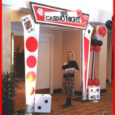 Casino Theme Party Entrance Decor.
