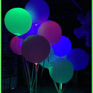 Big Balloons with LED lights