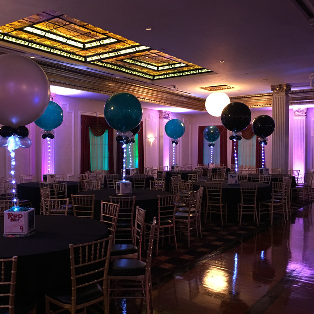 3 ft Balloons with LED lighting.