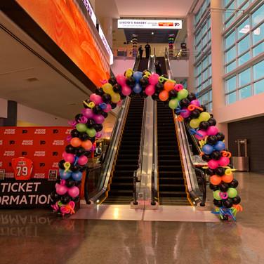 Neon Balloon Arch.