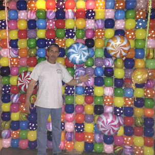 Candy Themed Balloon Wall