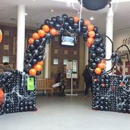 Halloween Balloon Decor.