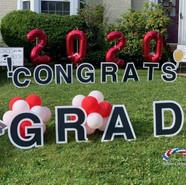 Graduation yard art