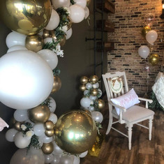 Organic arch for baby shower
