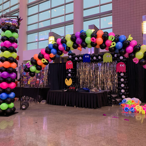 80's Themed Cluster Balloon Arch