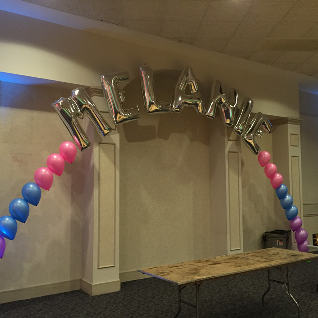 Name Balloon Arch.