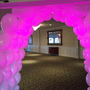 Balloon Tunnel with Lighting