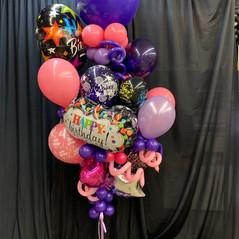 Purple rain balloon bouquet