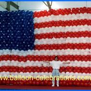 Giant American Flag Balloon Wall