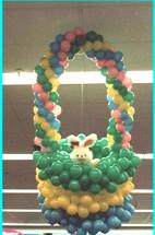 Easter Basket balloon sculpture