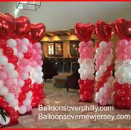 Valentines Balloon Columns