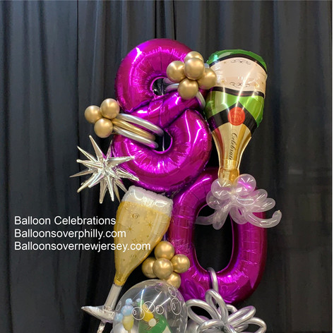 #80 Organic Balloon Bouquet