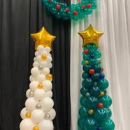Christmas balloon trees.