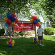 Pom poms and banner rental