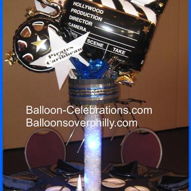 Movie Balloon Centerpiece.