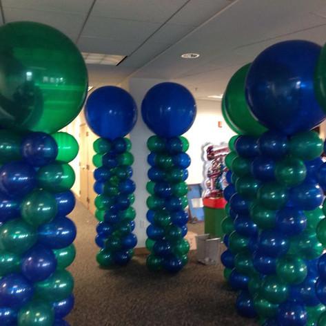 Balloon towers.