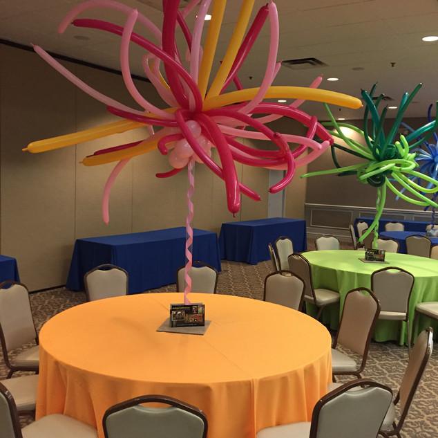 Balloon Firework Centerpieces