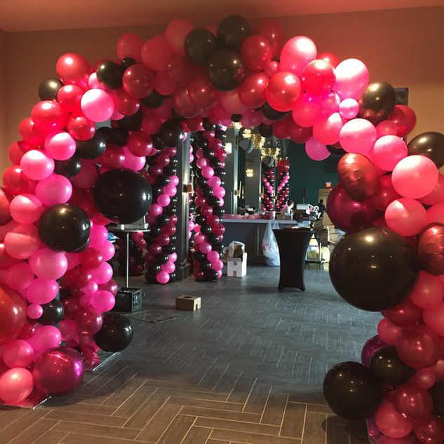 Organic Balloon Arch Tunnel