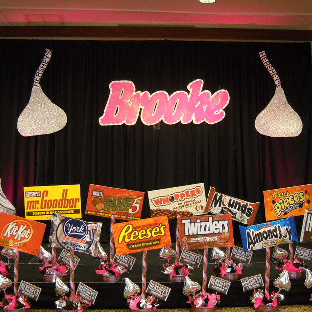 Candy Themed Foam Board Centerpieces
