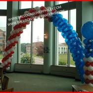 American Flag Balloon Arch