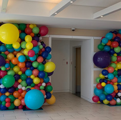 Dual Colorful Balloon Walls