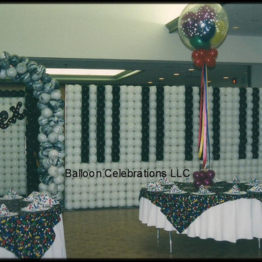 Piano Balloon Wall