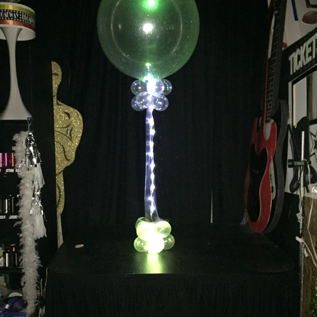 3ft Clear Balloon with color changing lights