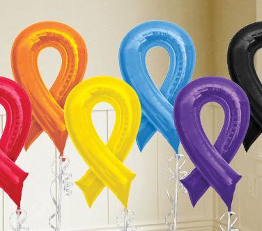 Awareness balloon ribbons